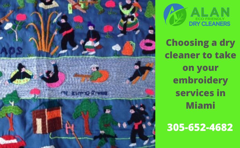 embroidery services in Miami
